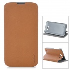 PUDINI LX-G730 Protective PU Leather Case for Huawei G730 - Brown
