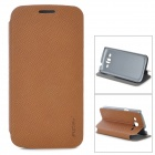 PUDINI LX-G3812 Protective PU Leather Case for Samsung G3812 - Brown