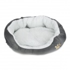 Lamb Wool + Fleece + Polyester Wadding Cotton Warm Pet House - Grey (S)