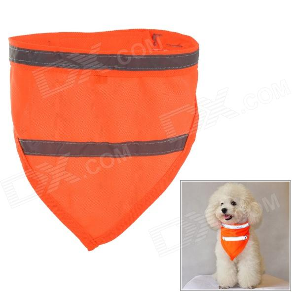 Doglemi DM10031 Glow-in-the-dark Reflective Dacron Pet Scarf - Orange + Yellow (Size M)