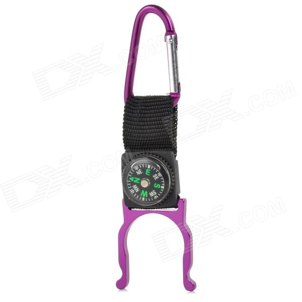 FJQXZ Outdoor Sport Aluminum Alloy + Band Quick Release Buckle w/ Compass - Dark Purple