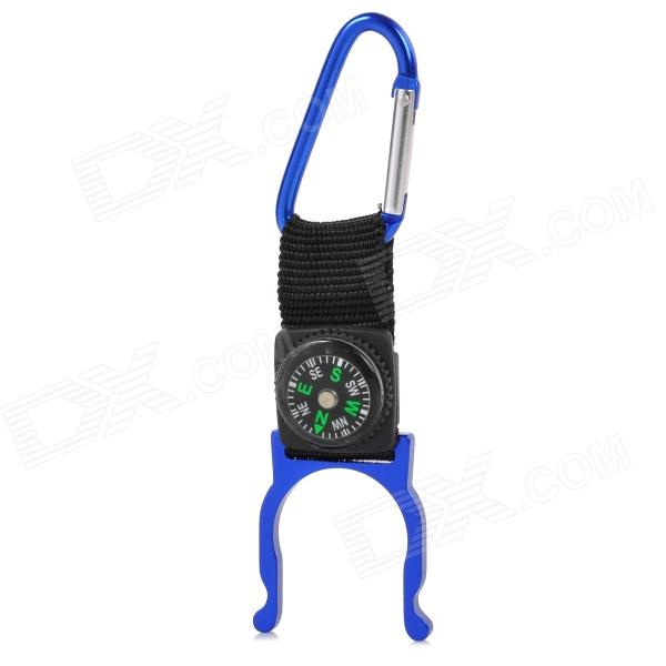 FJQXZ Outdoor Sport Aluminum Alloy + Band Quick Release Buckle w/ Compass - Deep Blue
