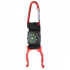 FJQXZ Outdoor Sport Aluminum Alloy + Band Quick Release Buckle w/ Compass - Red