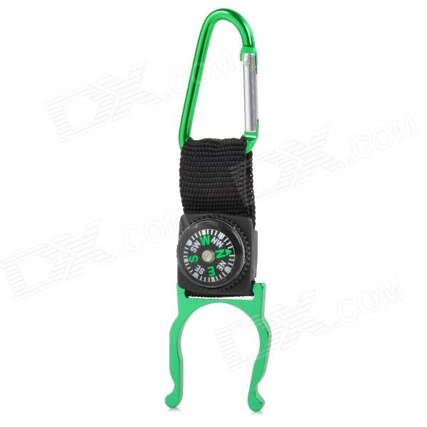 FJQXZ Outdoor Sport Aluminum Alloy + Band Quick Release Buckle w/ Compass - Green