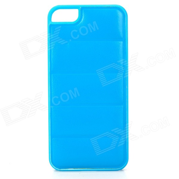 Protective PU Leather + PC Back Case for Iphone 5 / 5s - Sky Blue