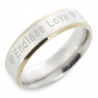"SHIYING jz088 ""Endless Love"" Pattern Titanium Steel Ring for Men - Silver"