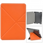 Transformable Protective PU Leather + PC Case for Amazon Kindle Fire HDX 7 - Orange + Black