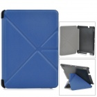Transformable Protective PU Leather + PC Case for Amazon Kindle Fire HDX 7 - Dark Blue + Black