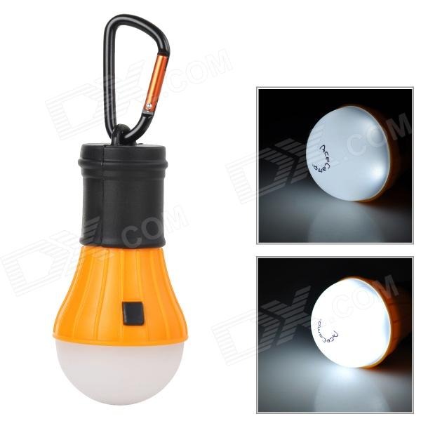 AceCamp 1028 Bulb Style 6-LED 40lm 4-Mode White Hanging Tent Lamp - Orange + Black (3 x AAA)