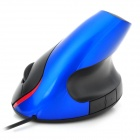 wowpen-joy 5D-B Design Ergonômico USB 2.0 Optical LED Vertical 1600dpi Mouse - Preto + Azul