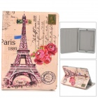 Eiffel Tower Pattern Protective PU Leather Case w/ Stand / Auto-sleep for Ipad AIR - Pink + Black