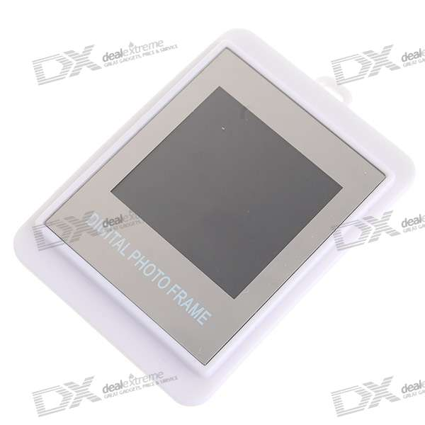 "1.5"" LCD Rechargeable Digital USB Photo Frame Keychain - White (107-Picture Memory Storage)"