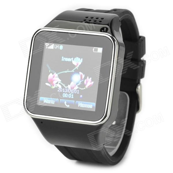 KICCY S2 GSM Smart Watch Phone w/ 1.54 Capacitive Screen, Quad-band and Bluetooth - Black i5 gsm wrist watch phone w 1 8 resistive screen quad band single sim and fm black