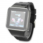 "KICCY S2 GSM Smart Watch Phone w / 1.54 ""kapazitiver Bildschirm, Quad-Band-und Bluetooth - Schwarz"