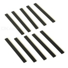 Jtron 2.54mm 40-Pin Single Row Seat / Single-row Female Header - Black (10 PCS)
