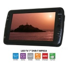 7 inch Portable LED TV Television / DVB-T / MPEG4 / PVR  - Black