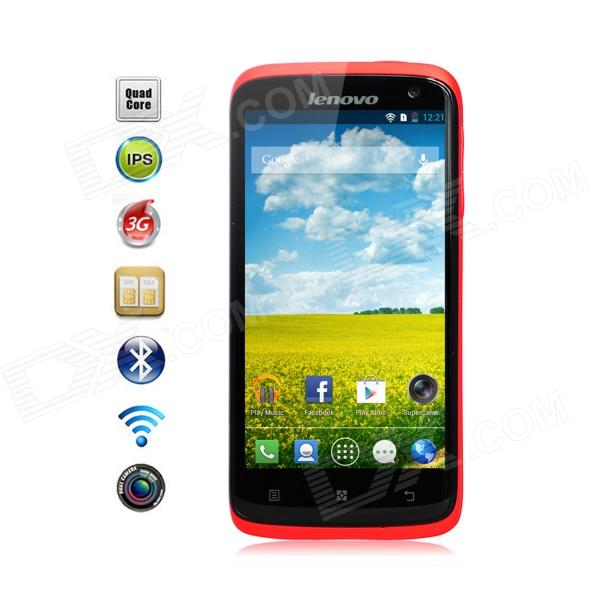 Lenovo S820 MTK6589 Quad-Core Android 4.2 WCDMA Bar Phone w/ 4.7″, 13.0 MP Camera, 4G ROM – Red