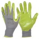 Galilee pncg 100214 Protective Nylon + Rubber Gardening Gloves - Green + Grey (Pair)