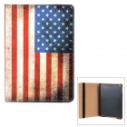 Retro Stylish US Flag Pattern Protective Flip-open PU + PC Case w/ Holder + Auto Sleep for iPad Air