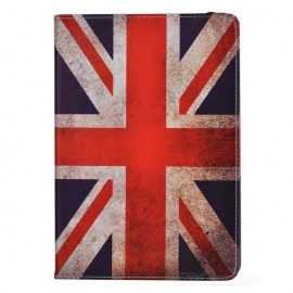 Retro UK National Flag Style Protective PU Leather + PC Case for Ipad AIR - Red + Blue + White