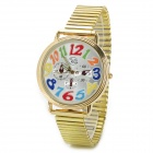 Ultra Thin Big Dial Zinc Alloy Quartz Wrist Watch - Golden (1 x SR626)