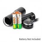 UltraFire M-32 1W 9-LED 10lm 1-Mode White Flashlight - Black (3 x AAA)