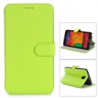 Protective PU Leather Flip-Open Case w/ Stand for Samsung Note 3 / N9000 - Fluorescent Yellow