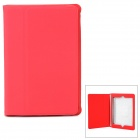 Ultrathin Protective Frosted PU Leather Case for Retina Ipad MINI - Red