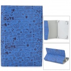 "R-7 Cartoon Style Protective PU Leather + ABS Case for 7"" Tablet PC - Blue + Black"