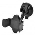 JIMI S-2 360 Degree Rotation Suction Cup Adjustable Holder for Iphone + GPS + More - Black