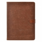 Protective Cowhide Case w/ Auto Sleep for iPad Air - Brown