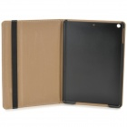 London Eye Pattern Protective PU + PC Case w/ Stand / Auto Sleep for Ipad AIR - Black + Grey