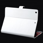 Protective PU Leather Flip-open Case w/ Stand / Auto Sleep for Ipad AIR - White