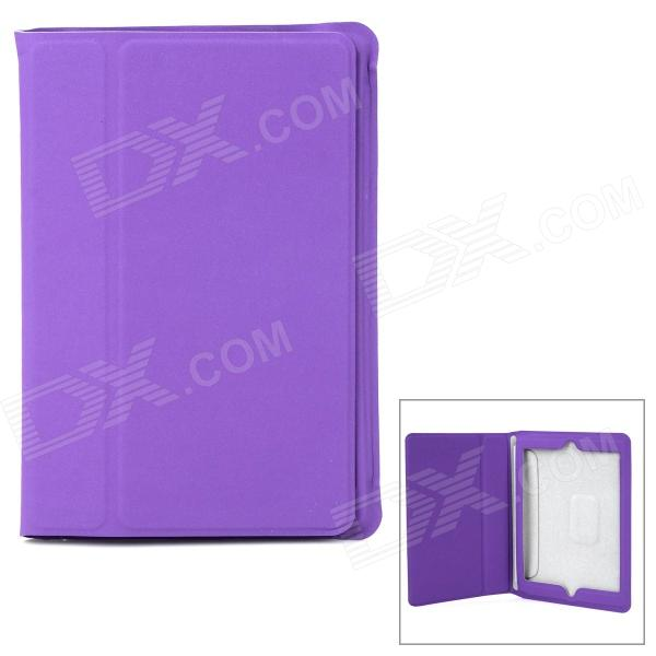 Ultrathin Protective Frosted PU Leather Case for Retina Ipad MINI - Purple protective pu pc flip open case cover for ipad mini red