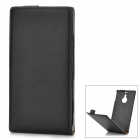 a-33 Protective Split Leather Case for Nokia Lumia 1520 - Black