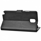 Protective PU Leather Flip-Open Case w/ Stand for Samsung Note 3 / N9000 - Black