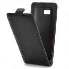 Protective PU Leather Case for HTC Desire 600 - Black