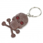 PZCD PZ-16 Skull Style Creative 2-LED Mini Red Flashlight Keychain  - Brown (2 x AG3)