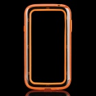Protective ABS + Silicone Bumper Frame for Samsung 9080 / 9082 - Orange + Transparent