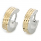 SHIYING BN414E689B Punk Style Stainless Steel Ear Stud for Men - Silver + Golden