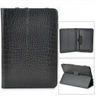 "Crocodile Grain Style Protective PU Leather Case for 10"" Tablet PC - Black"