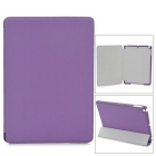 Protective PU + PC Flip-open Case w/ Stand for Ipad AIR - Dark Purple