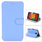 Protective PU Leather Flip-Open Case w/ Stand for Samsung Note 3 / N9000 - Light Blue