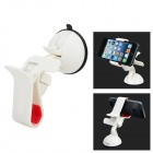 JIMI S-3 Universal 360 Degree Rotation Suction Cup Holder Bracket for iPhone + GPS + More - White