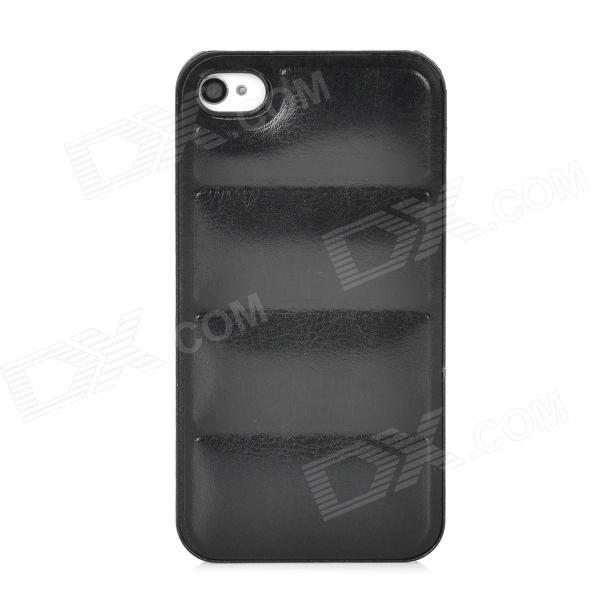 Creative Sofa Style PU Leather Case for Iphone 4 / 4S - Black