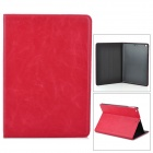 Stylish Protective Cowhide Case for Ipad AIR - Red