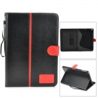 Protective PU + TPU Flip-Open Case w/ Stand / Auto-Sleep for Ipad AIR - Black + Red