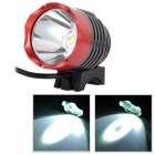 LetterFire MT-08 USB Powered Cree XM-L2 T6 600lm 3-Mode White Bike Light - Grey + Red