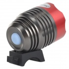 LetterFire MT-08 USB Powered LED 600lm 3-Mode White Bike Light - Deep Grey + Red