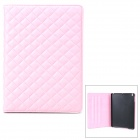 Checked Style Protective PU Leather + Plastic Case w/ Auto Sleep for iPad Air - Pink